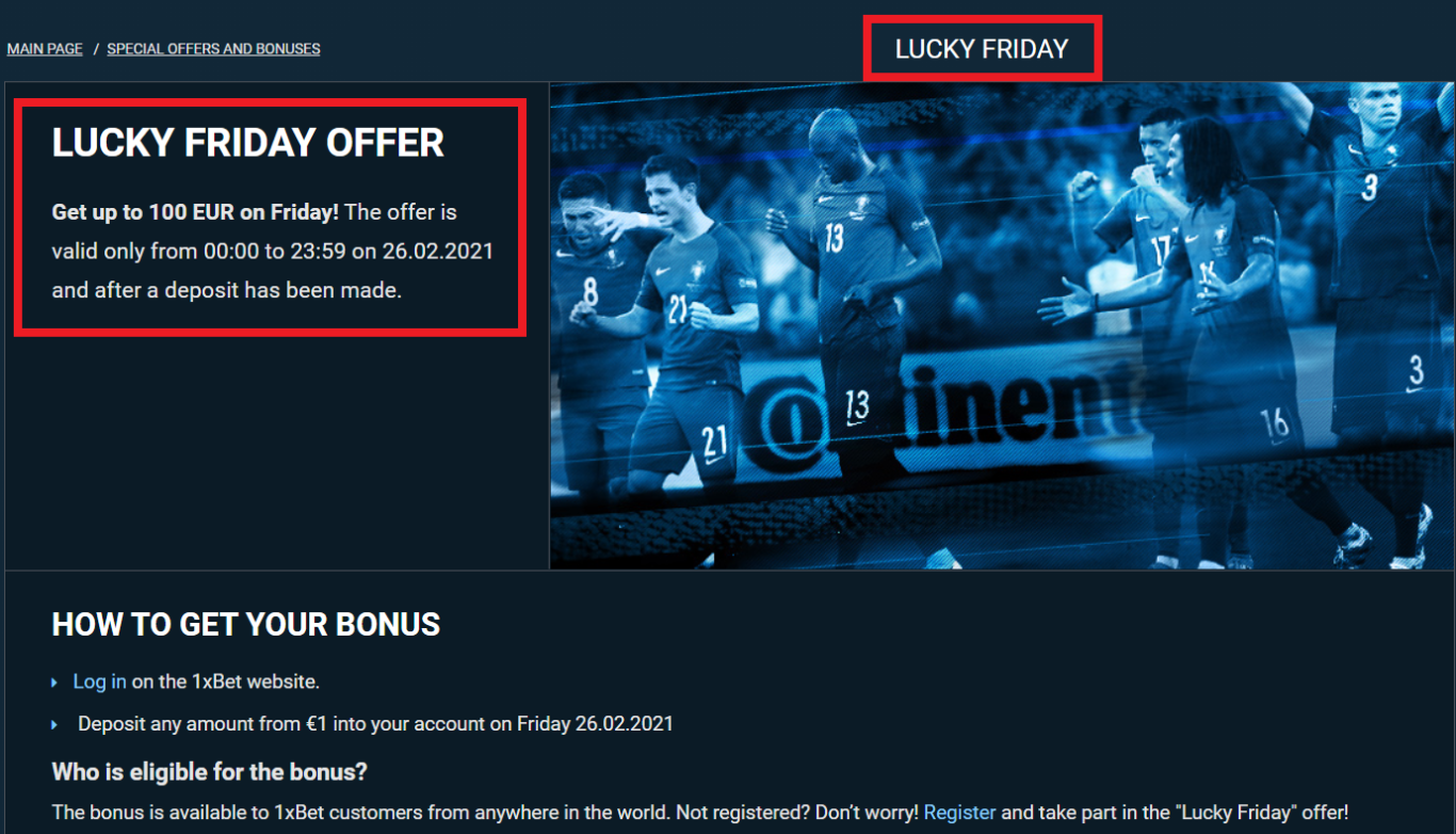 How to use 1xBet bonus: all information