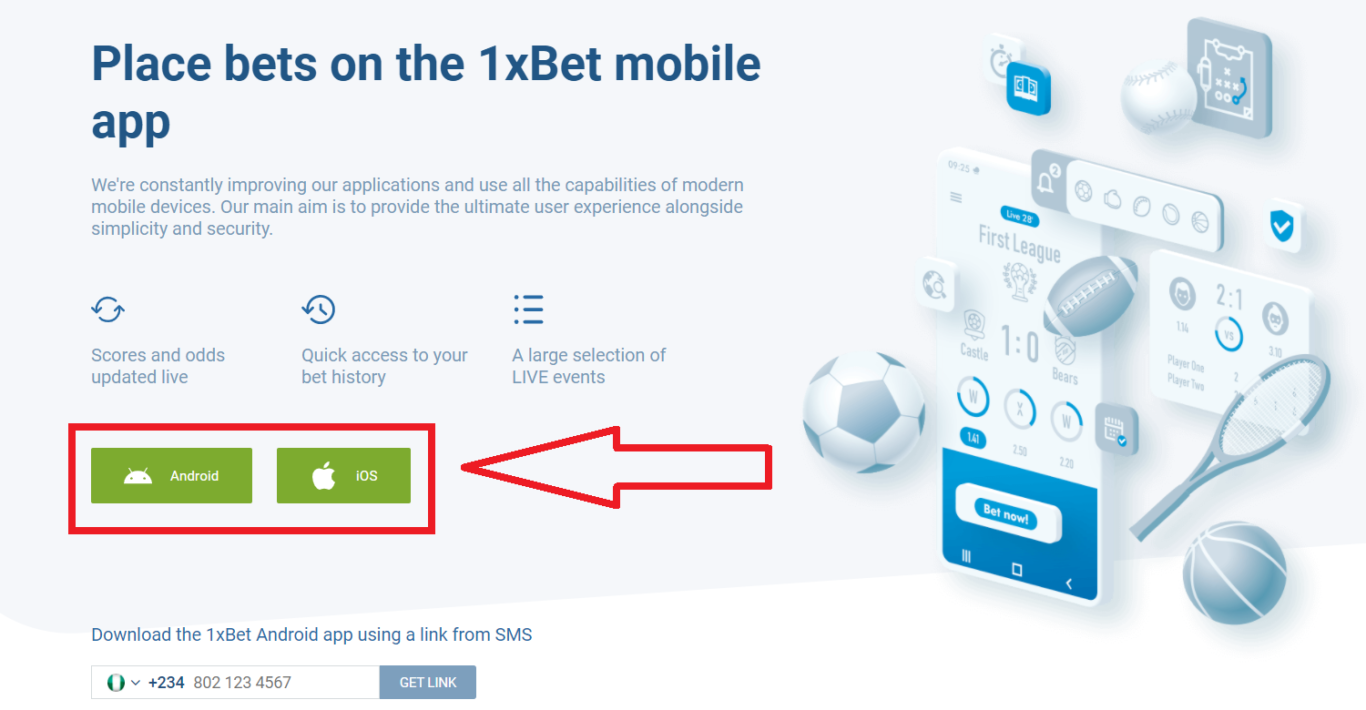 Features of 1xBet Android app