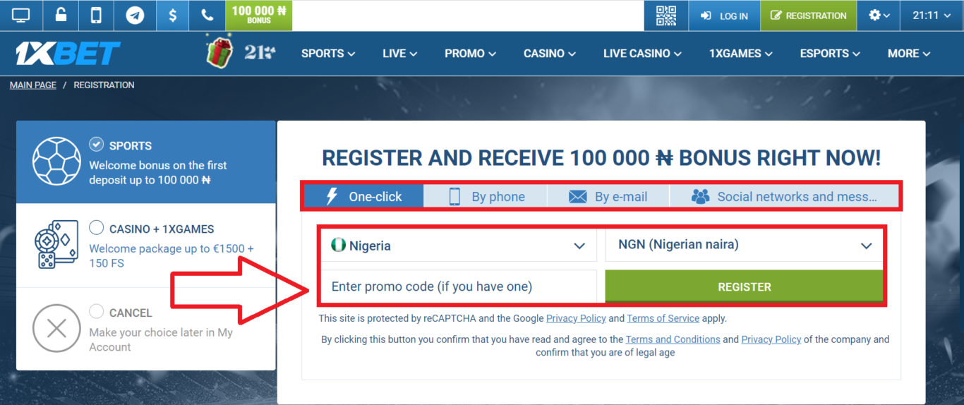 Download the 1xBet mobile login